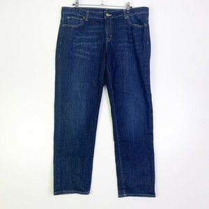 Michael Kors Womens Blue Mid Rise Sexy BF Jeans 10